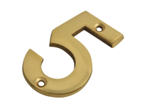 Forge Numeral No.5 - Brass Finish 75mm (3in)