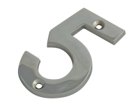 Forge Numeral No.5 - Chrome Finish 75mm (3in)
