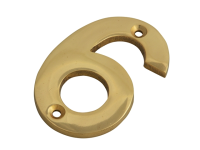 Forge Numeral No.6 - Brass Finish 75mm (3in)