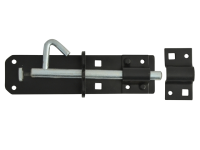 Forge Padlock Bolt Black Powder Coated 150mm (6in)