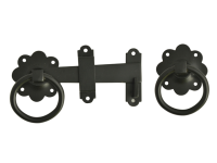 Forge Ring Gate Latch - Black Powder Coated