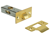 Forge Tubular Mortice Latch Brass Finish 65mm (2.5in)