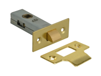 Forge Tubular Mortice Latch Brass Finish 76mm (3in)