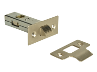 Forge Tubular Mortice Latch Nickel Finish 65mm (2.5in)