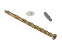 Forgefix Concrete Frame Screw Torx High-Low Thread ZYP 7.5 x 132mm Box 100