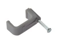 Forgefix Cable Clip Flat Grey 16.00mm Box 100