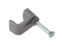 Forgefix Cable Clip Flat Grey 4.00mm Box 100