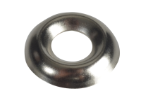 Forgefix Screw Cup Washers Nickle Plated No.10 Forge Pack 20