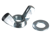 Forgefix Wing Nut & Washers ZP M5 Forge Pack 12