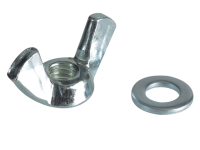 Forgefix Wing Nut & Washers ZP M6 Forge Pack 10