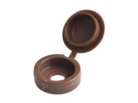 Forgefix Hinged Cover Cap Dark Brown No.6-8 Blister 20