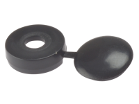 Forgefix Hinged Cover Cap Black No.6-8 Blister 20
