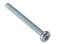 Forgefix Machine Screw Pozi Pan Head ZP M3 x 12mm Bag 25