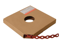 Forgefix Red Plastic Coated Pre-Galvanised Band 17mm x 0.8 x 10m Box 1