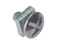 Forgefix Roofing Bolt ZP M6 x 12mm Bag 25