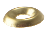 Forgefix Screw Cup Washer Solid Brass Polished No.10 Blister 20