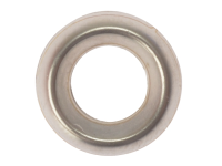 Forgefix Screw Cup Washers Solid Brass Nickel Plated No.10 Bag 200