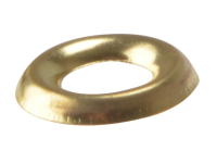 Forgefix Screw Cup Washer Solid Brass Polished No.8 Blister 20