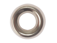 Forgefix Screw Cup Washer Solid Brass Nickel Plated No.8 Blister 20