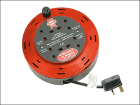 Faithfull Power Plus Cable Reel 230 Volt 10 Metre 10 Amp 4 Socket 230V