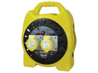 Faithfull Power Plus Enclosed Cable Reel 15m 16 amp 1.5mm Cable 110V