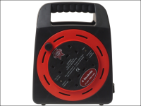Faithfull Power Plus Easy Reel Cable Reel 20 Metre 10 Amp With 4 Socket 240 Volt 240V