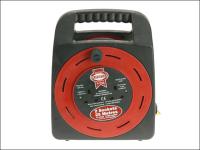Faithfull Power Plus Easy Reel Cable Reel 25 Metre 13 Amp With 2 Socket 240 Volt 240V