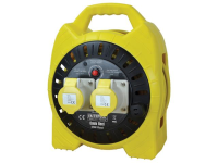 Faithfull Power Plus Enclosed Cable Reel 25m 16 amp 1.5mm Cable 110V