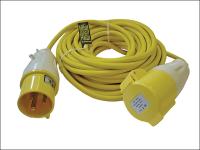 Faithfull Power Plus Trailing Lead  14 Metre 3.5 kW  32 Amp 2.5mm Cable 110 Volt 110V