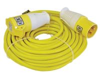 Faithfull Power Plus Trailing Lead 14 Metre 1750w 16 Amp 2.5mm Cable 110 Volt 110V