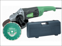 Hitachi G23SS 230mm Angle Grinder with Diamond Blade & Case 1900 Watt 110 Volt 110V