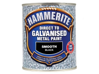 Hammerite Direct To Galvanised Metal Paint Black 750ml