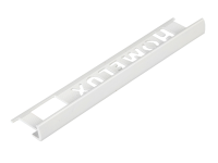 Homelux Tile Trim Homelux PVC Straight Edge White 6mm x 2.5m (Box 10)