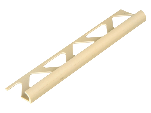 Homelux Tile Trim PVC Round Edge Soft Cream 6mm x 2.44m (Box 10)