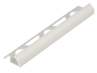 Homelux Tile Trim PVC Round Edge White 9mm x 2.44m (Box 10)