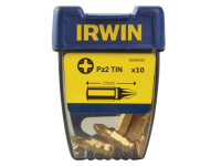 IRWIN Screwdriver Bits Pozi PZ2 25mm Titanium Pack of 10