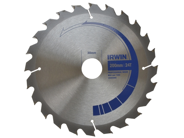 Circular Saw Blade 200 x 30mm x 24T Professional Cross & Rip Cut
