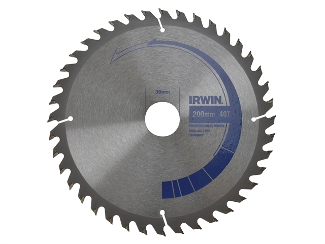 Circular Saw Blade 200 x 30mm x 40T Professional Cross & Rip Cut
