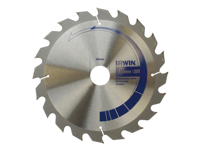 Circular Saw Blade 210 x 30mm x 20T Professional Cross & Rip Cut