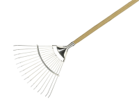 Kent and Stowe Long Handled Lawn and Leaf Rake Stainless Steel