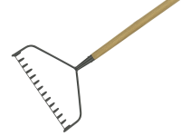 Kent and Stowe Long Handled Soil Rake Carbon Steel