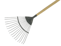 Kent and Stowe Long Handled Lawn and Leaf Rake Carbon Steel