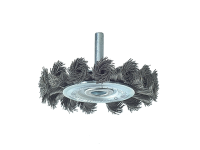 Lessmann Knot Wheel Brush 75mm x 0.50 Steel Wire