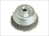 Lessmann Cup Brush 80mm  M14 x 0.35 Steel Wire