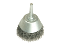 Lessmann Cup Brush with Shank D50mm x 20h x 0.30 Steel Wire