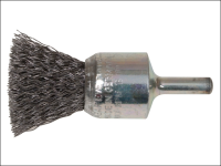 Lessmann End Brush with Shank 23/22 x 25mm 0.30 Steel Wire