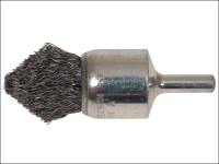 Lessmann Pointed End Brush with Shank 23/68 x 25mm 0.30 Steel Wire