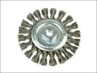 Lessmann Knot Wheel Brush 115mm x 14mm M14 x 0.50 Steel Wire