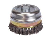 Lessmann Knot Cup Brush 65mm M14 x 0.50 Steel Wire