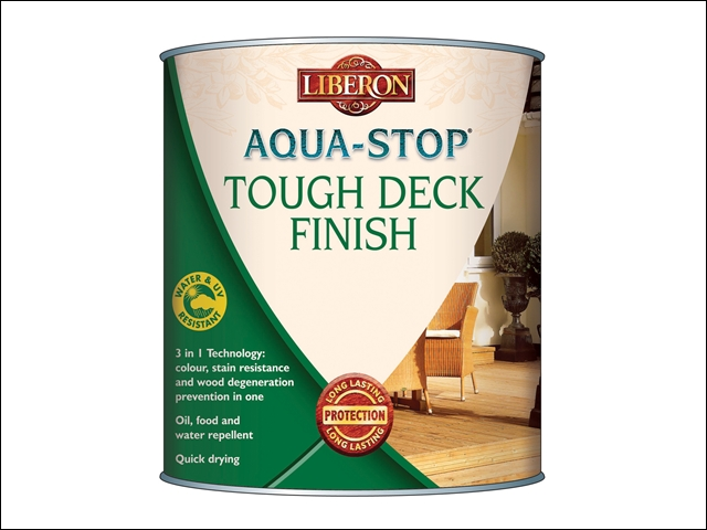 Liberon Aqua-Stop / Advanced Protection  Tough Decking Finish Clear 5 Litre